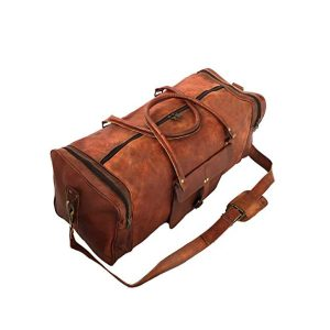 983d39fa7f Leather 24 Inch Square Duffel Travel Gym Sports Overnight Weekend Leather  Bag